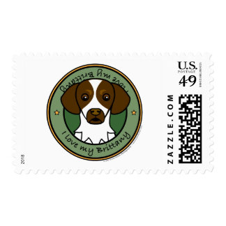 Love My Brittany Postage