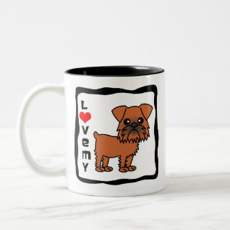 Love My Brussels Griffon Two-Tone Coffee Mug