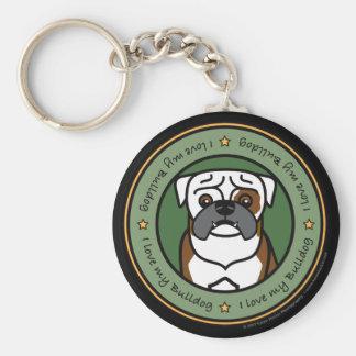 Love My Bulldog Keychain