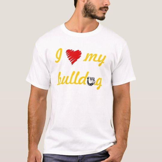 Love My Bulldog Nightie T-Shirt