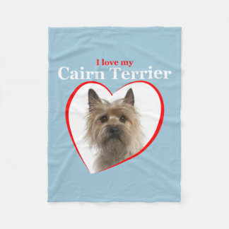 Love My Cairn Terrier Fleece Blanket