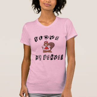 Love My Canadian Beaver T-Shirt Shirt