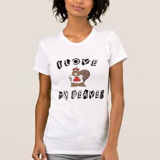 Love My Canadian Beaver T-Shirt Tee Shirt