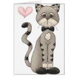 Love My Cat Greeting Card