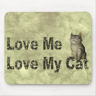 Love my Cat Mouse Pad