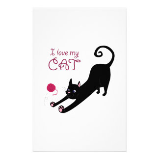 Love My Cat Personalized Stationery