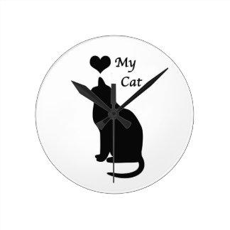 Love My Cat Wall Clock