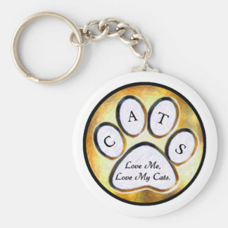 Love My Cats Key Chain
