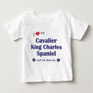 Love My Cavalier King Charles Spaniel (Female Dog) Baby T-Shirt