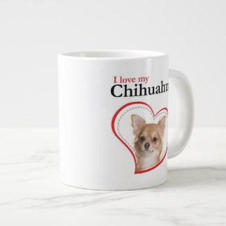 Love My Chihuahua Jumbo Mug 20 Oz Large Ceramic Coffee Mug