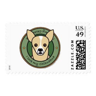 Love My Chihuahua Postage Stamp