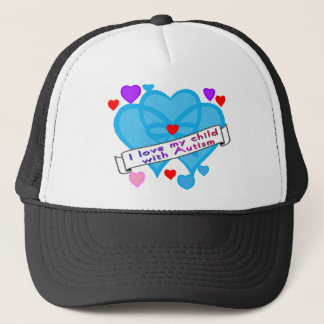 Love my child w autism trucker hat