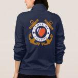 Love My Coastie Crossed Anchor Back Jacket