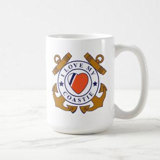 Love My Coastie Crossed Anchor Mug