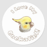Love My Cockatiel Sticker