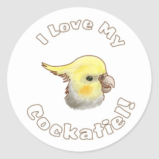 Love My Cockatiel Sticker