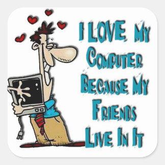 Love my computer Sticker