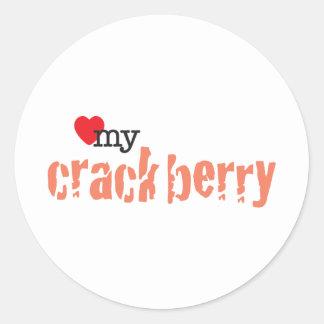 Love My Crackberry Classic Round Sticker
