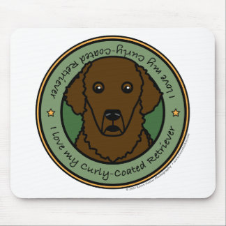 Love My Curly-Coated Retriever Mouse Pad
