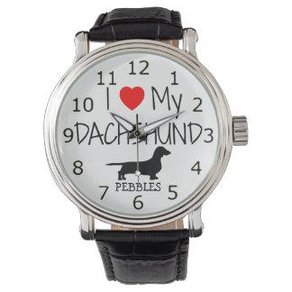 Love My Dachshund Wristwatch