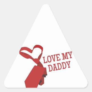 Love My Daddy Triangle Sticker