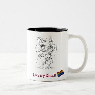 Love my Dads!! Mug (boy&girl)