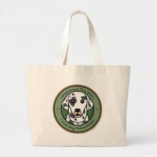 Love My Dalmatian Large Tote Bag