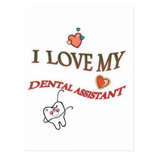 Love My Dental Assistant Postcard