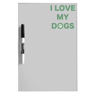 Love My Dog (green) Dry Erase Board