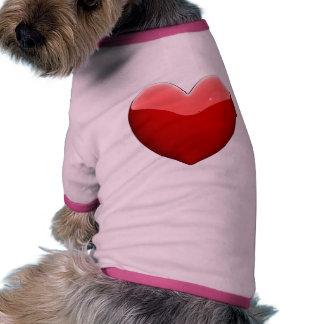 love my dog heart dog tee