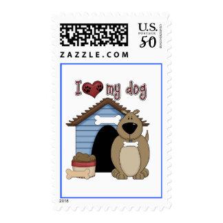 Love my dog postage