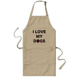 Love My Dogs (B) Long Apron