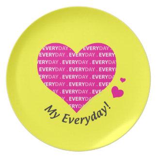 Love My Everyday Melamine Plate