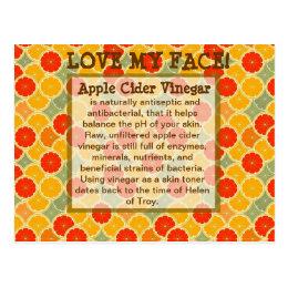 Love My Face--Apple Cider Vinegar Postcard