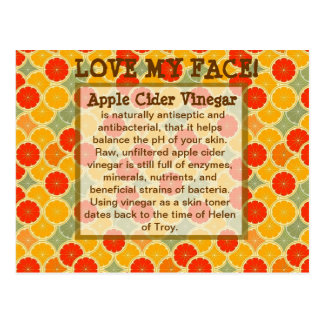 Love My Face--Apple Cider Vinegar Postcard