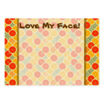 Love My Face! Template Large Business Cards (Pack Of 100)