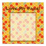 Love My Face! Template 5.25x5.25 Square Paper Invitation Card