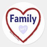 Love My Family Classic Round Sticker