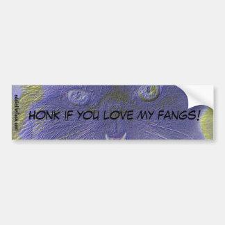 Love My Fangs Car Bumper Sticker
