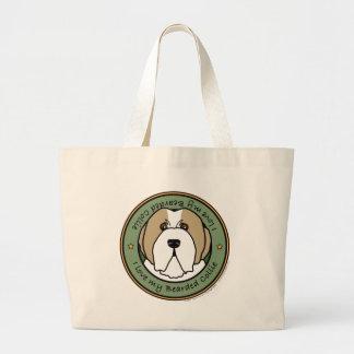 Love My Fawn Beardie Large Tote Bag