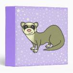 """Love My Ferret 1.5"""" Binder Purple Star"""