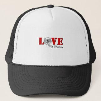Love My Fireman Great Firefighter Gift Trucker Hat