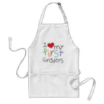 Love My First Graders Adult Apron
