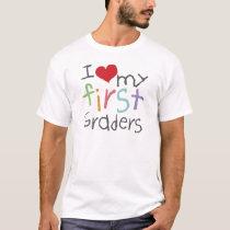 Love My First Graders  Basic T-Shirt
