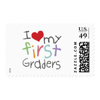 Love My First Graders Postage Stamps
