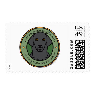 Love My Flat Coat Postage