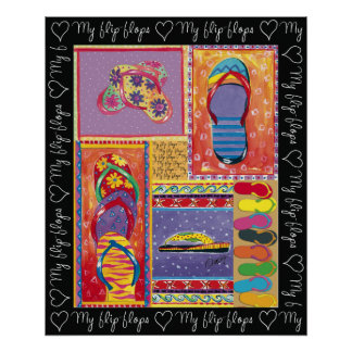 Love-My-Flip-Flops-poster Poster