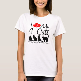 Love My FOUR Cats T-Shirt