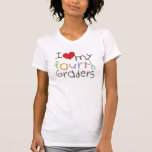 Love My Fourth Graders Ladies Petite T-Shirt