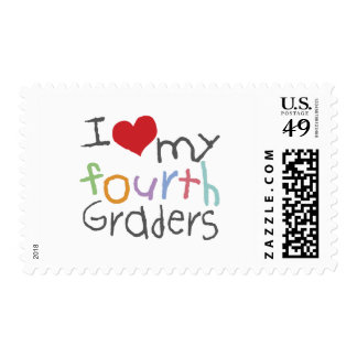 Love My Fourth Graders Postage Stamp